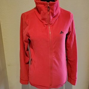 Red Adidas Zip Up